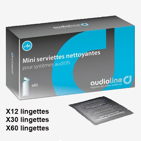 Audioline - serviettes nettoyantes appareils auditifs