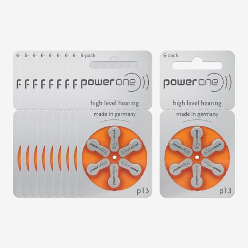 Powerone - 10 plaquettes piles 13 orange