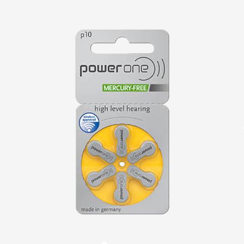 Powerone - plaquette piles 10 jaune