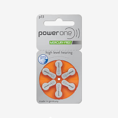 Powerone - plaquette piles 13 orange