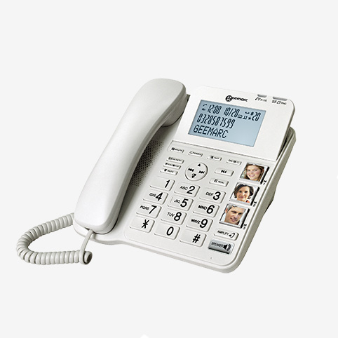 Geemarc - téléphone malentendant Amplidect Combi 295 seul