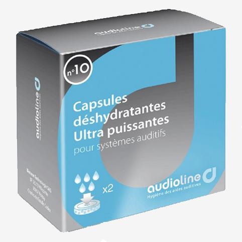 Audioline - 2 grandes capsules déshydrantantes appareils auditifs